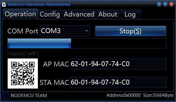 NodeMCU Firmware programmer