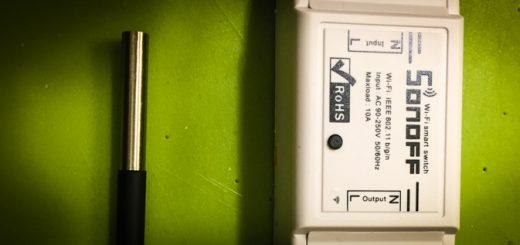 Sonoff z czujnikiem temperatury DS18B20