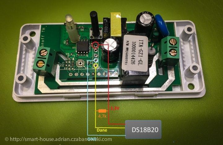 Sonoff podłącznie z DS18B20