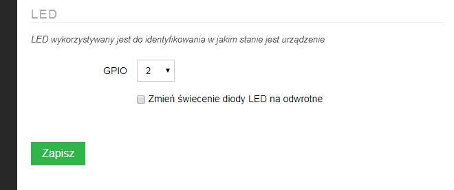 AFE Firmware: konfiguracja LED