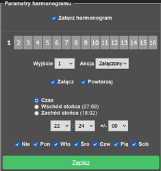 Screenshot 2021 10 14 at 22 28 06 Tasmota   Konfiguracja harmonogramu